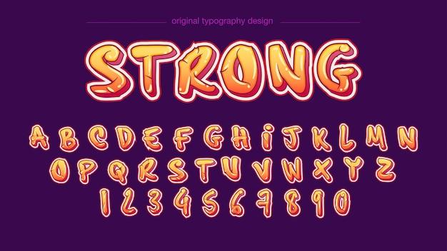 Diseño moderno de la tipografía en negrita