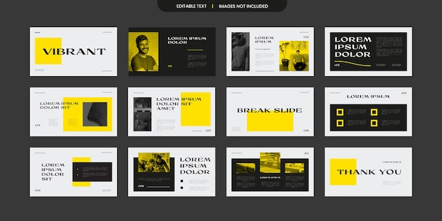Diseño moderno y vibrante de presentación de diapositivas