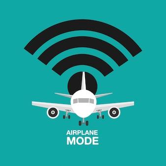 Diseño de modo avión, wifi apagado