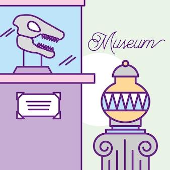 Diseño de monumentos del museo