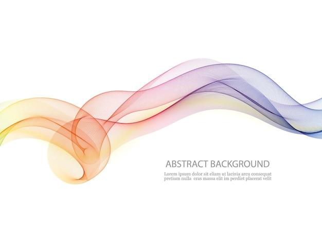 Diseño de movimiento de rizo. elemento de onda de rizo colorido.