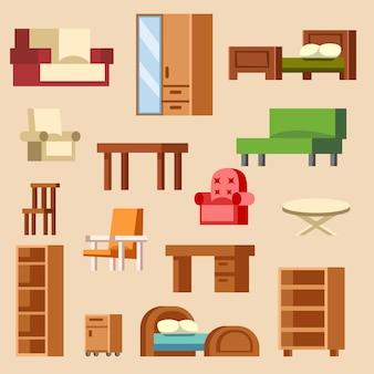 Diseño de muebles de interior de hogar