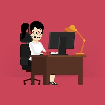 Diseño de mujer trabajando