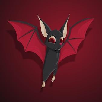 Diseño de murciélago de halloween