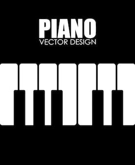 Diseño de música negro ilustración