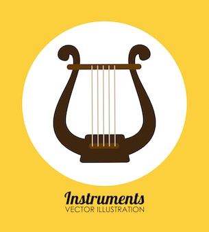 Diseño de música sobre fondo amarillo.