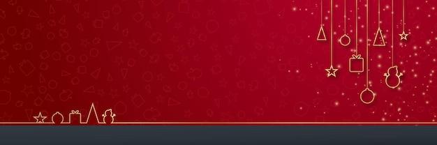 Diseño de navidad y año nuevo 2022 elegantes bolas navideñas realistas de oro rojo y decoración ...