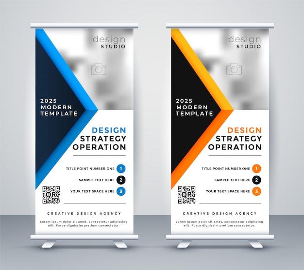 Diseño de negocios profesional rollup banner standee