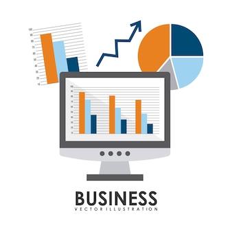 Diseño de negocios sobre fondo blanco ilustración vectorial