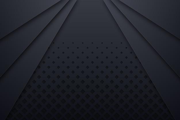 Diseño negro de estilo de papel 3d con espacio de copia