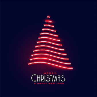 Diseño de neón brillante creativo árbol de navidad