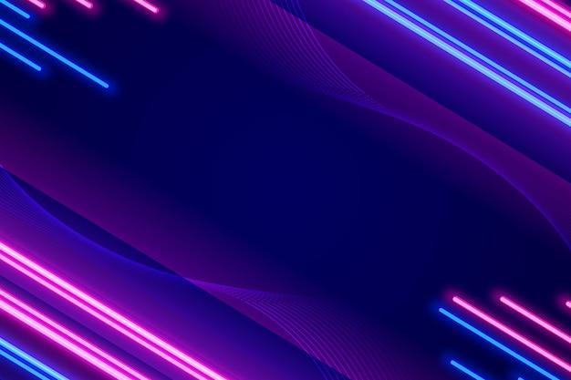 Diseño de neón de colores de fondo