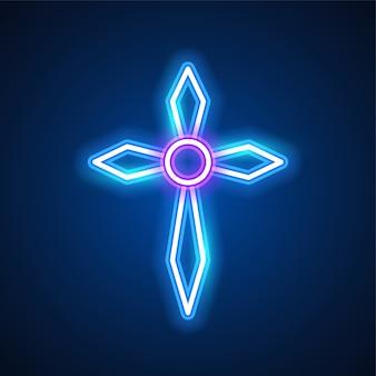 Diseño de neón cruz
