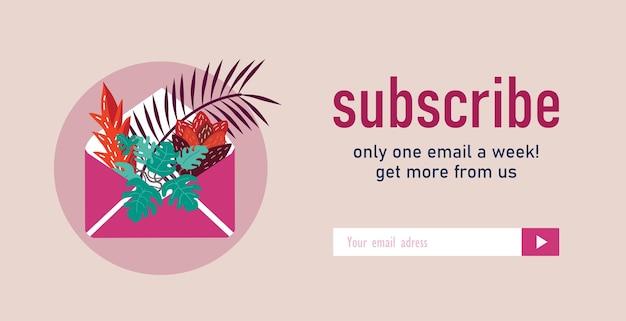 Diseño de newsletter con plantas caseras