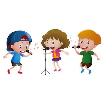Diseño de niños cantando