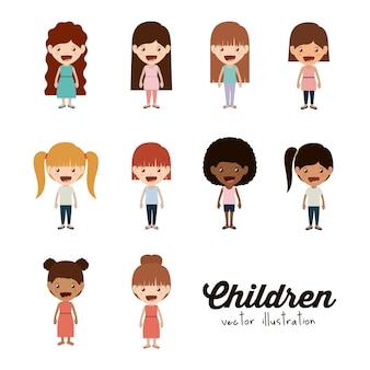 Diseño de niños felices