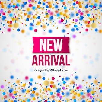Diseño de nueva llegada con concepto de confeti