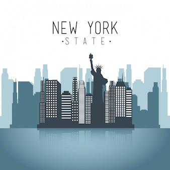 Diseño de nueva york sobre fondo blanco ilustración vectorial