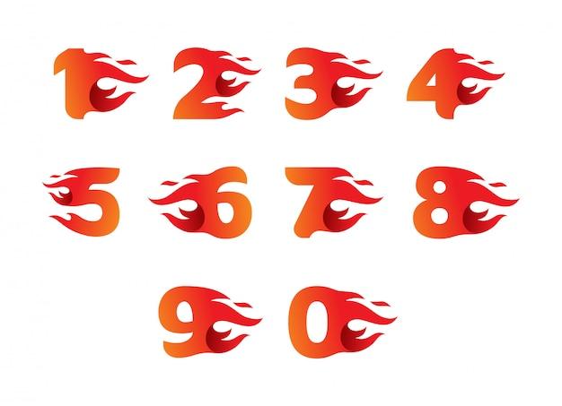 Diseño de número de fuego