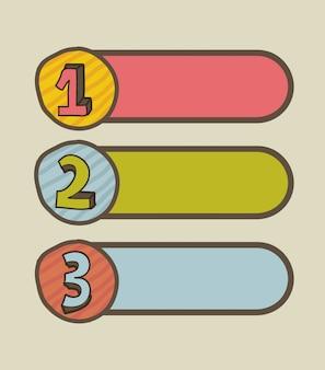 Diseño de números sobre fondo beige ilustración vectorial