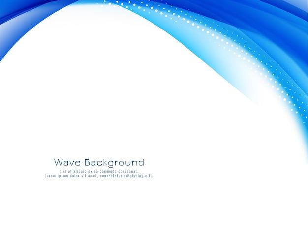 Diseño de onda azul abstracto con estilo