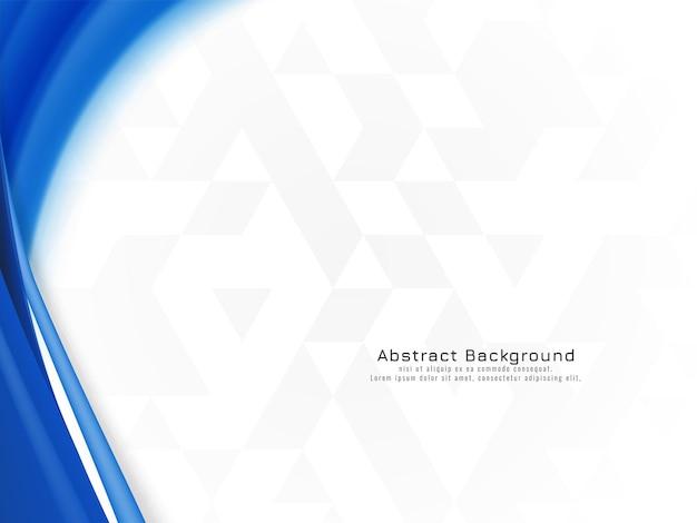 Diseño de onda azul abstracto en vector de fondo de mosaico vector gratuito
