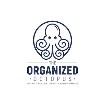 El diseño organizado del logotipo del pulpo