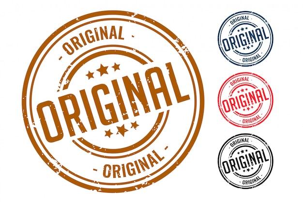 Diseño original de cuatro sellos de sello de goma