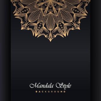 Diseño ornamental de mandala de lucurio