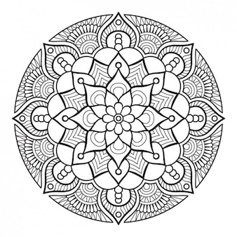 Diseño ornamento de estilo boho