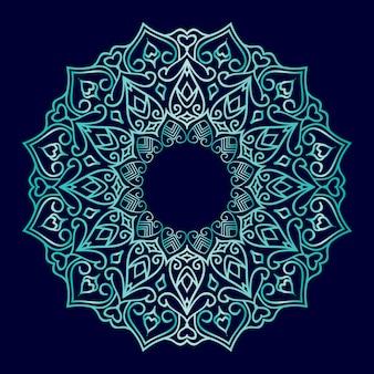 Diseño de ornamento de mandala de lujo