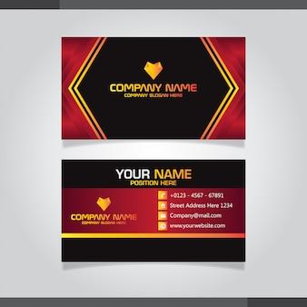 Diseño oscuro creativo del vector de la tarjeta de visita