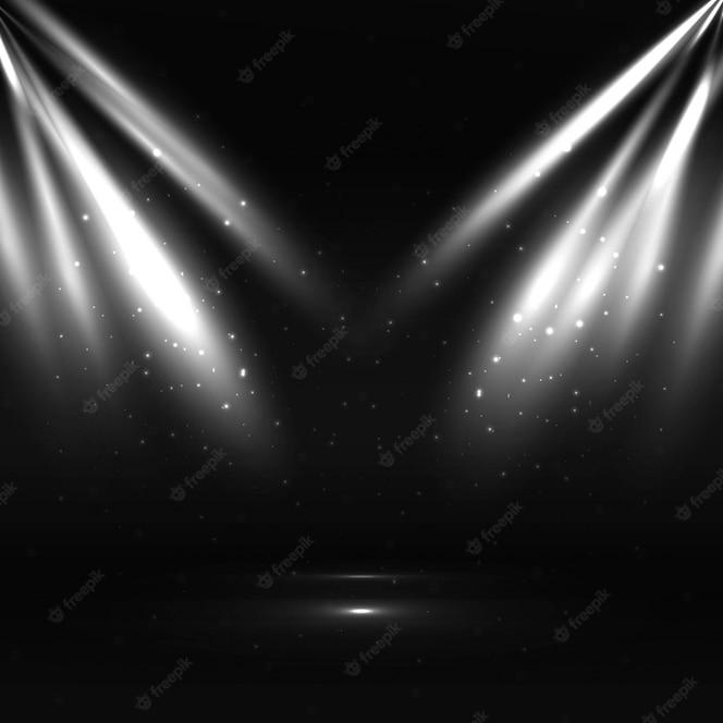Diseño oscuro de focos de luz