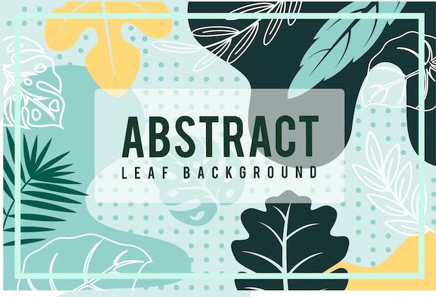 Diseño de otoño tropical de hoja abstracta
