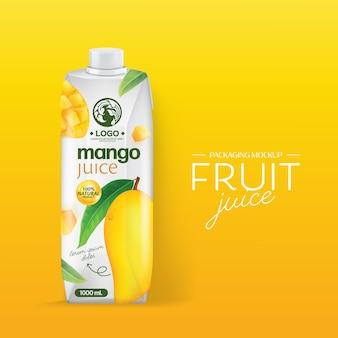 Diseño de packaging jugo de mango