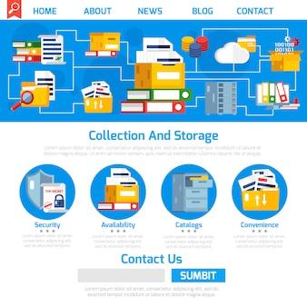 Diseño de página de archivo