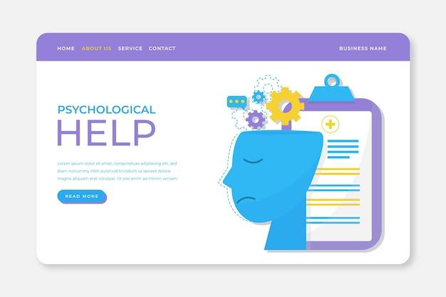 Diseño de página de aterrizaje de ayuda psicológica