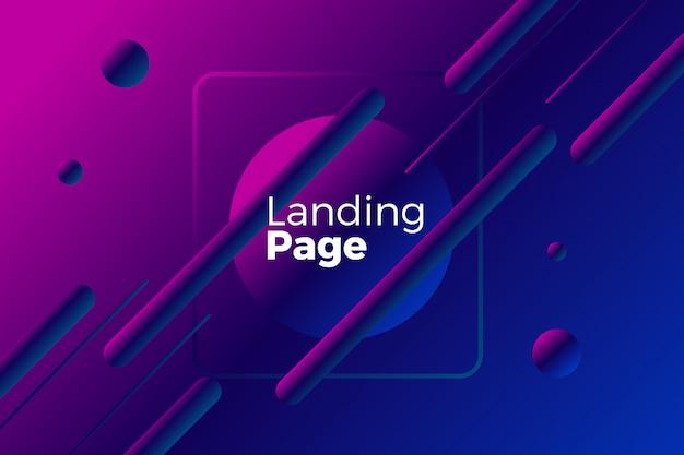 Diseño de página de aterrizaje creativo 3d
