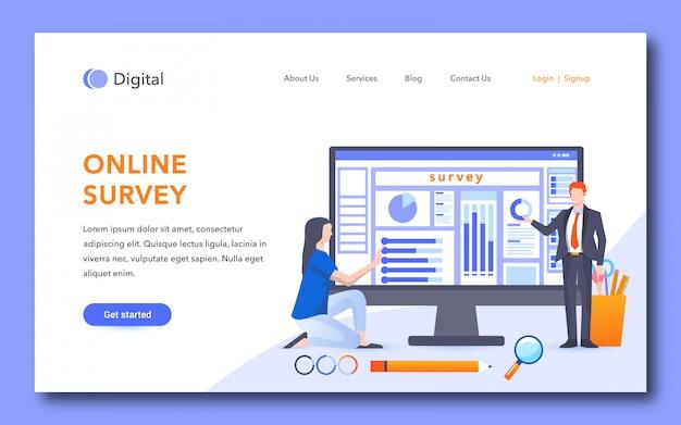 Diseño de la página de aterrizaje de la encuesta en línea