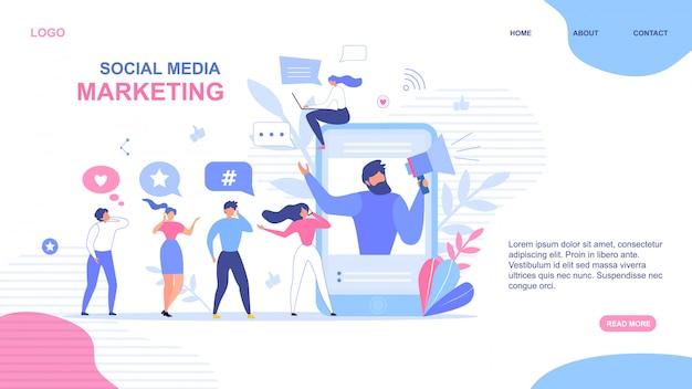 Diseño de página de aterrizaje para marketing en redes sociales
