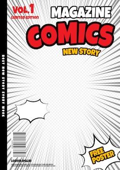 Diseño de página de cómic. portada de revista
