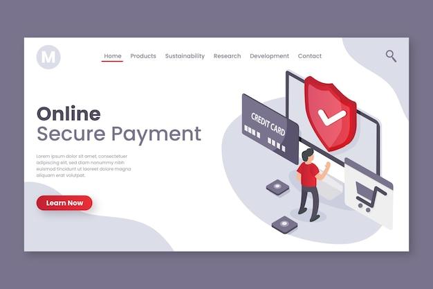 Diseño de página de destino de pago seguro