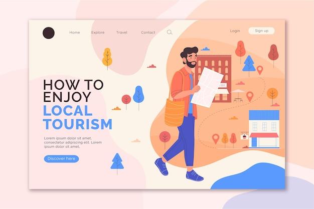 Diseño de página de destino de turismo local.