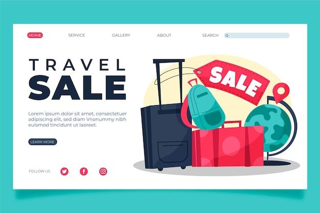 Diseño de página de destino de venta de viajes