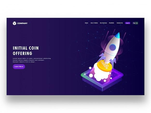 Diseño de la página de inicio de ico