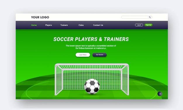 Diseño de página de inicio de página web o aplicaciones móviles