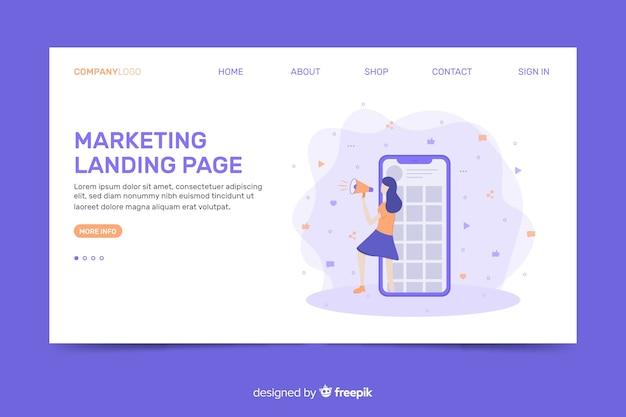 Diseño de página web de aterrizaje para empresas de marketing