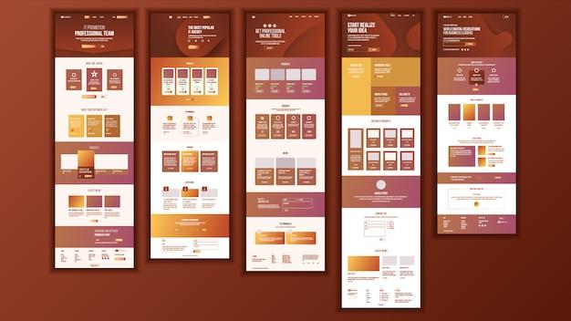 Diseño de la página web principal