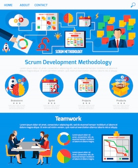Diseño de páginas web scrum agile development
