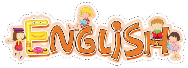 Diseño de la palabra para el inglés de la materia escolar